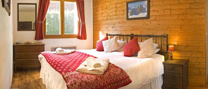 Bedroom at Chalet Shiraz, French Alps Walking Holiday