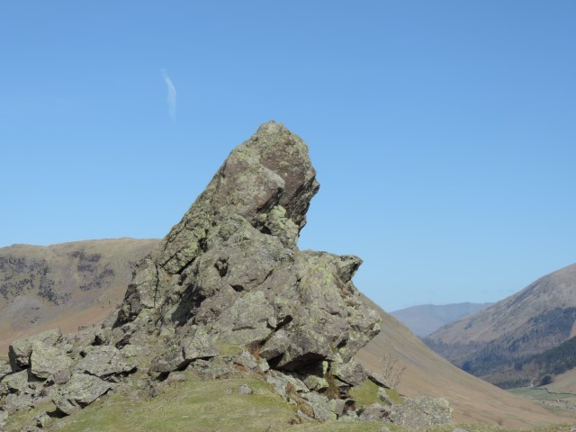 image: Helm Crag near Grasmere in the Lake District