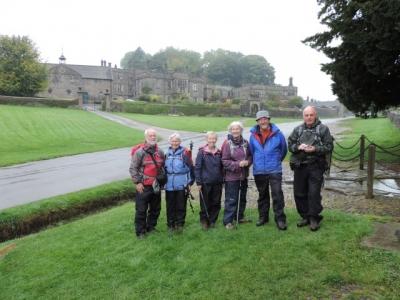 Image: walking group in Tissington on a short walking break