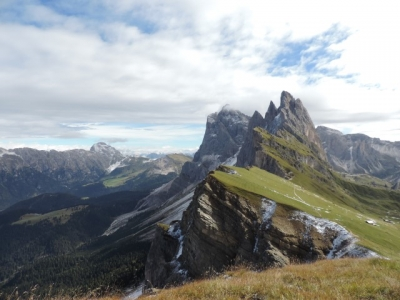 Image:  This picture is taken from the Seceda lift station Val Gardena
