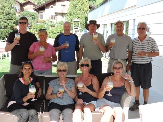 Image: Enjoying Bellini's in Val Gardena