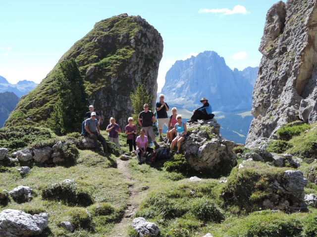 Image: Sassolungo viewpoint on a Pinnacle Walking Holiday
