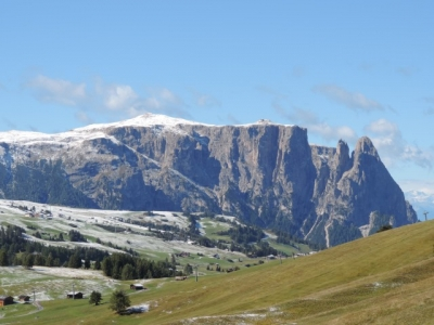 Image: Sciliar seen from the Alpe di Siusi in the Dolomites