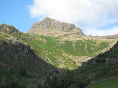 Image:  Harrison Stickle is one of the Langdale Pikes