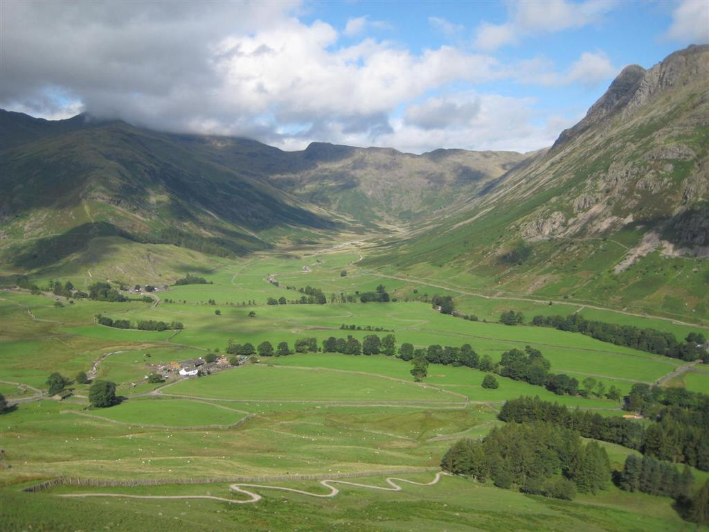 Image: Mickleden is the start of many a walk in the Lake District