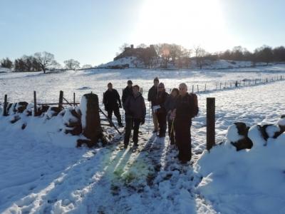 Image: Snowy walk near Robin Hoods Stride