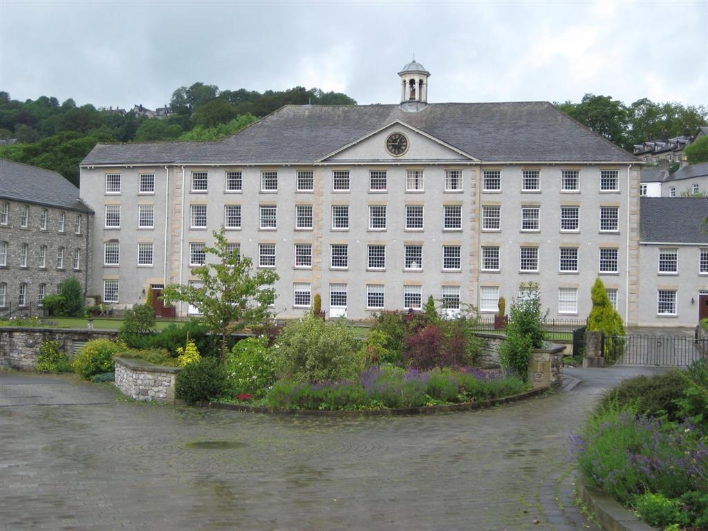 Image:  Cressbrook Mill has been made into apartments in the Peak District