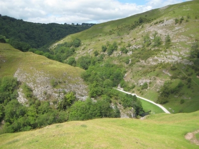 Image: The view of Dovedale from Thorpe Cloud