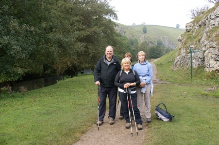 Image: Guests on a Peak District Walking Holiday