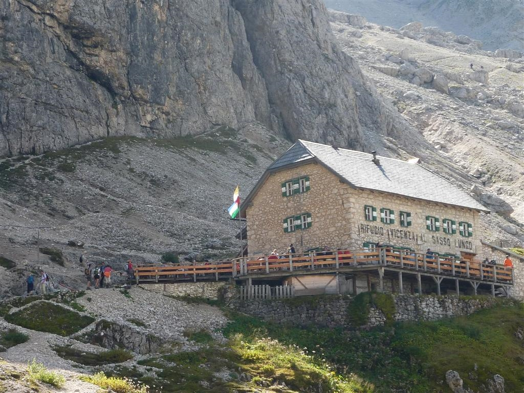 Image: Vicenza Hut always a great place to stop on a Walking Holiday in the Dolomites