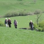 Guests on the Limestone Way Lathkill Dale, a Peak District walk