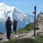 Encountering a sign post above Chamonix in Summer