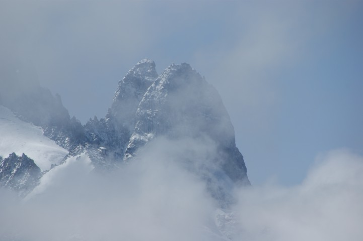 Avalanche risk is always a threat in the Alps