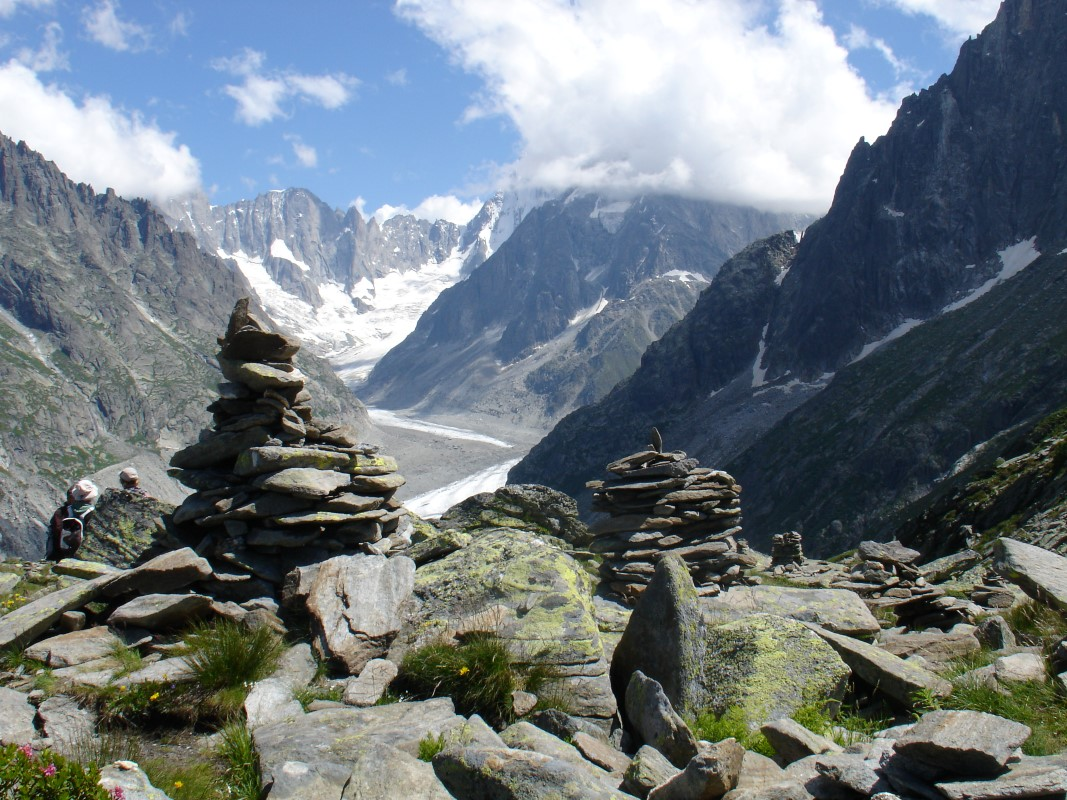 A great view on a Chamonix walking holiday