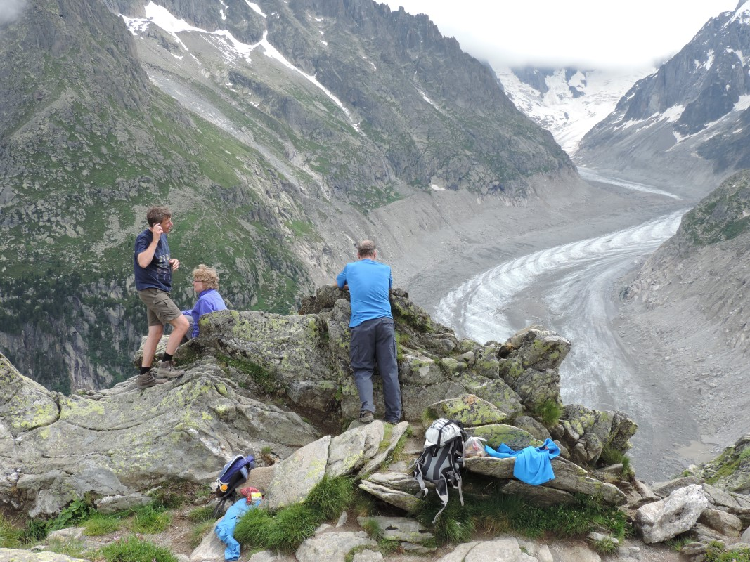 Mer de Glace a great walking breaks location