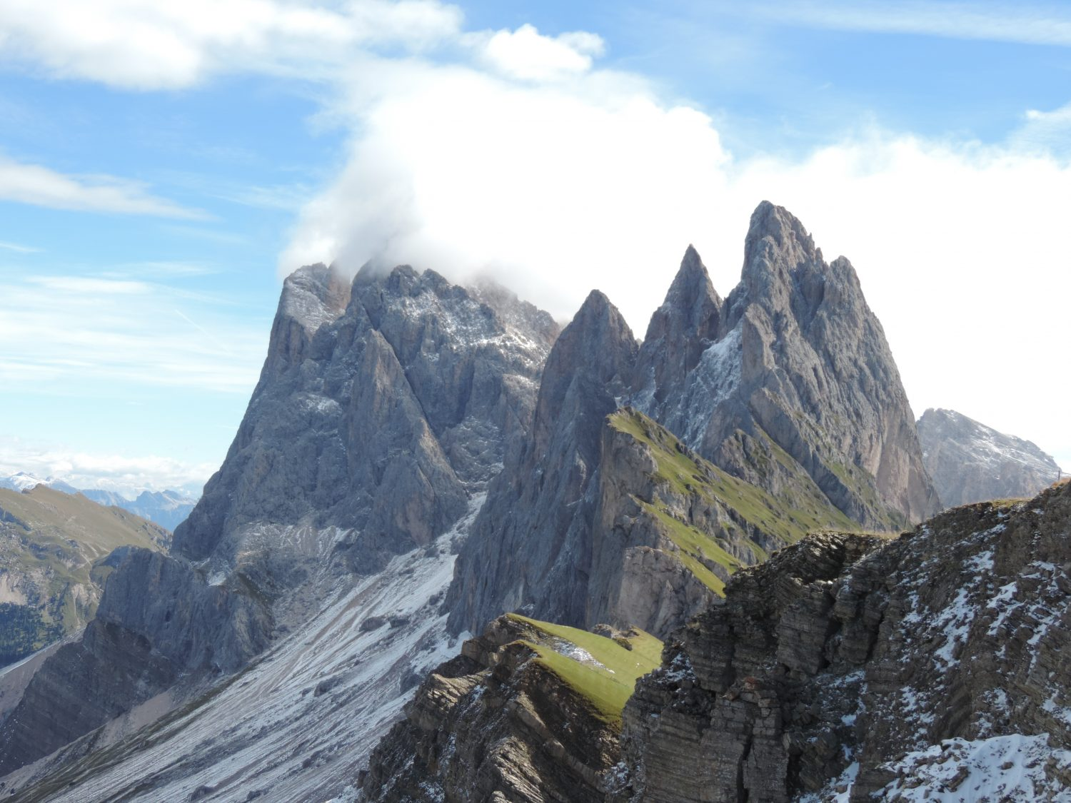 image: looking to the Puez Odle from Seceda