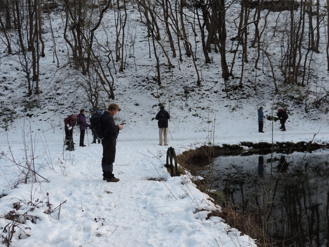 Everyone loves winter walking in the Derbyshire Dales at New Year, especially when there is snow underfoot