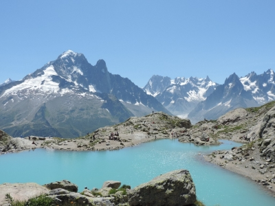 image: superb views of the Mer de Glace from Lac Blanc