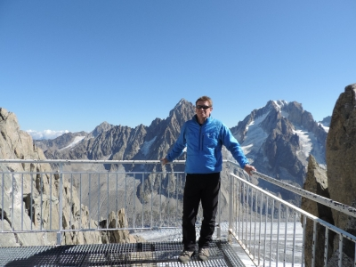image: mike from Pinnacle walking holidays at the Grands Montets