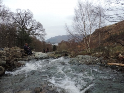 image: Lunch at Ashness Bridge on a Lake District short walking holiday