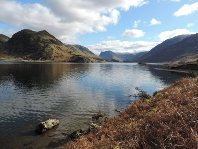 image: Rannerdale Knotts seen from Crummock Water