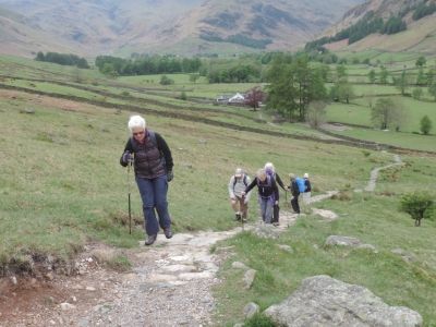 image: Guests on a Lake District walking break