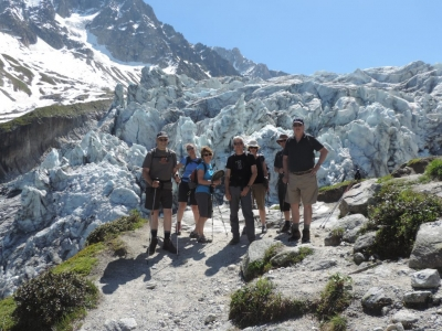 image: guests on a french alps walking holiday