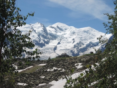 image: mont blanc seen from plan plaz