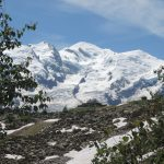 The Mont Blanc range overlooks Chamonix, home of the climbing world cup