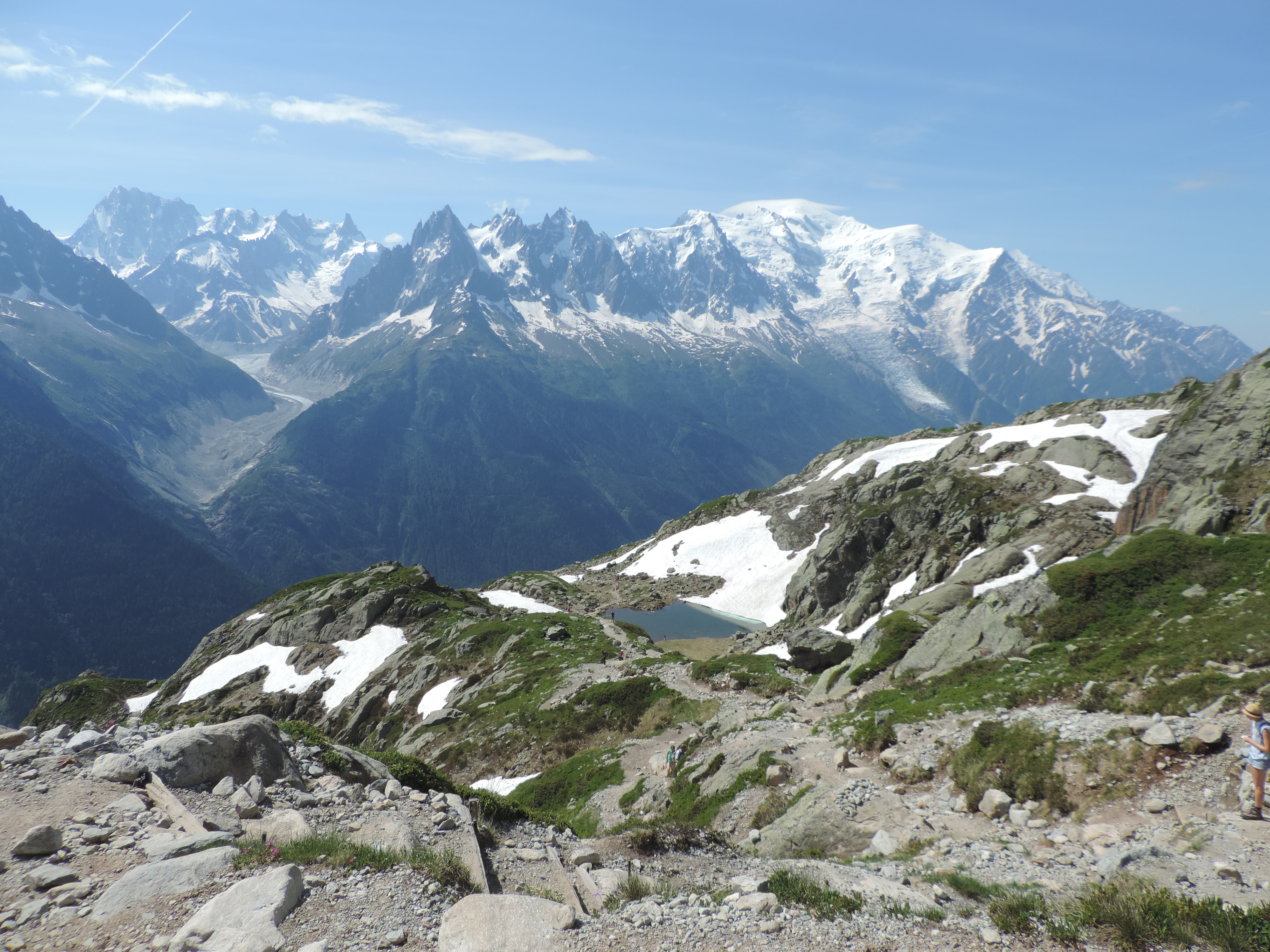 image: view from lac blanc on a pinnacle walking holiday