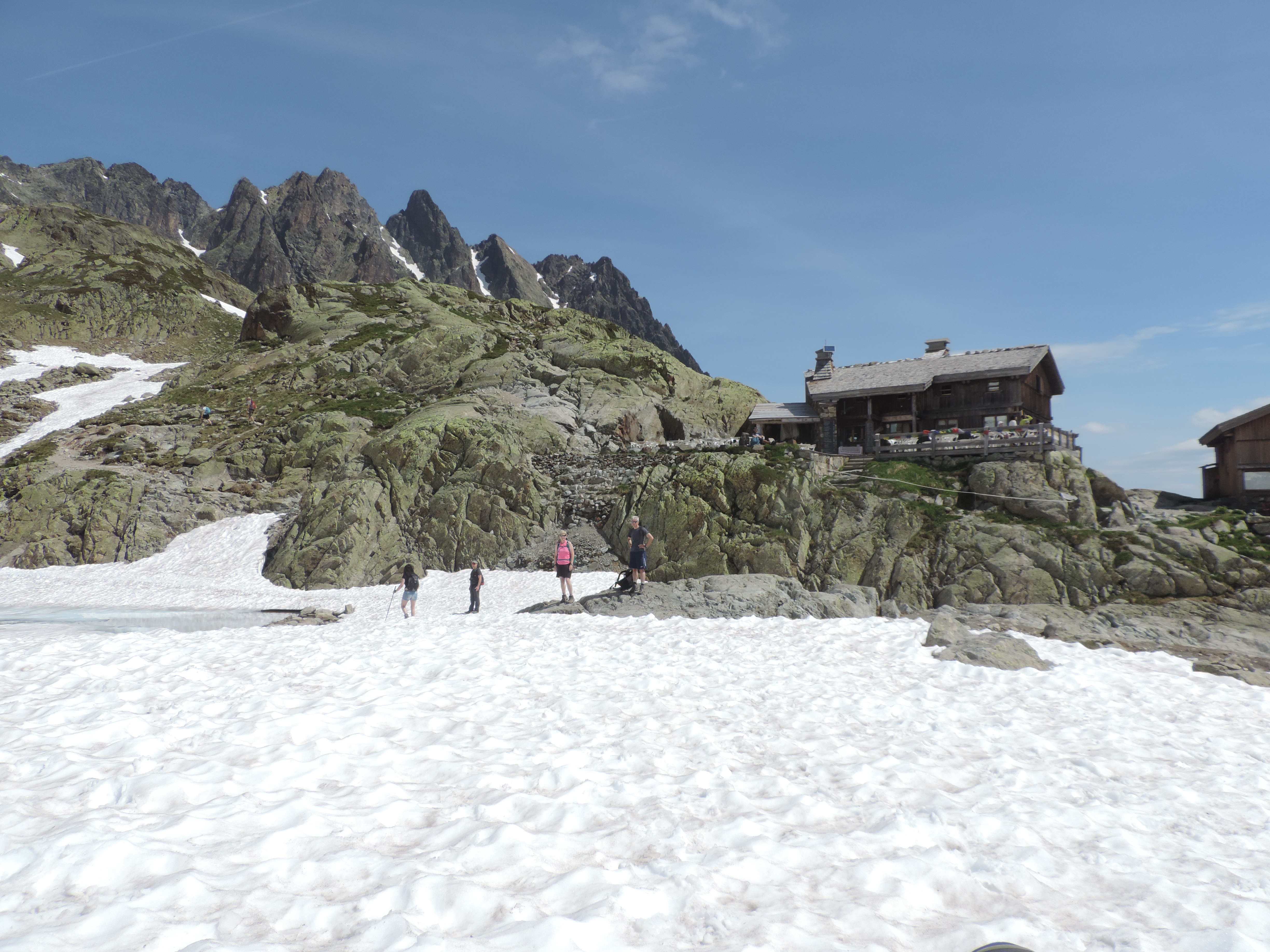image: snowy lac blanc a favourite walk with pinnacle walking holiday guests