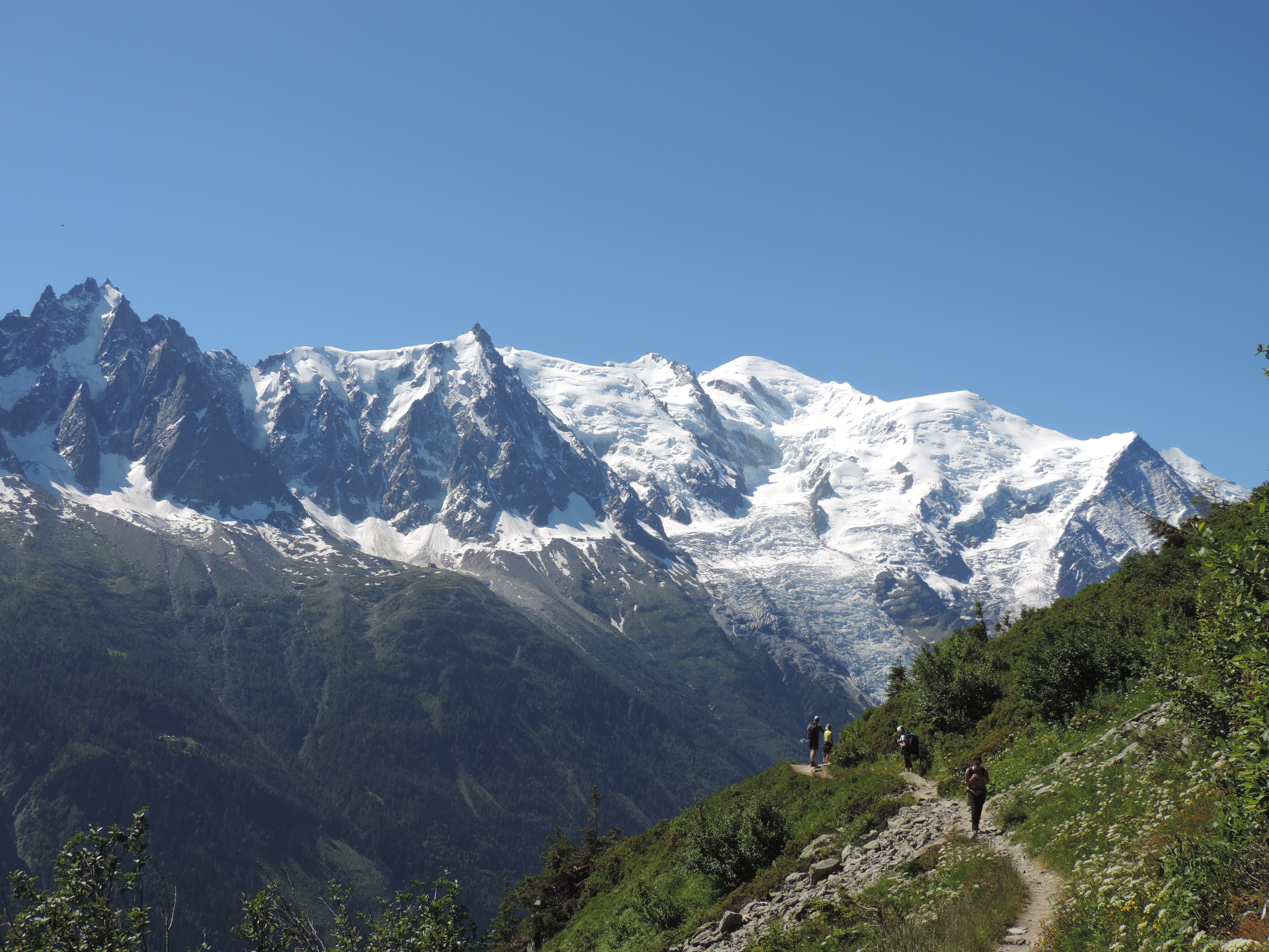image: stunning views of mont blanc from the grand balcon