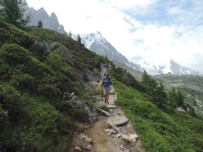 image: the path from plan aiguille to montenvers