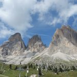 Stunning dolomite rock of the South Tyrol