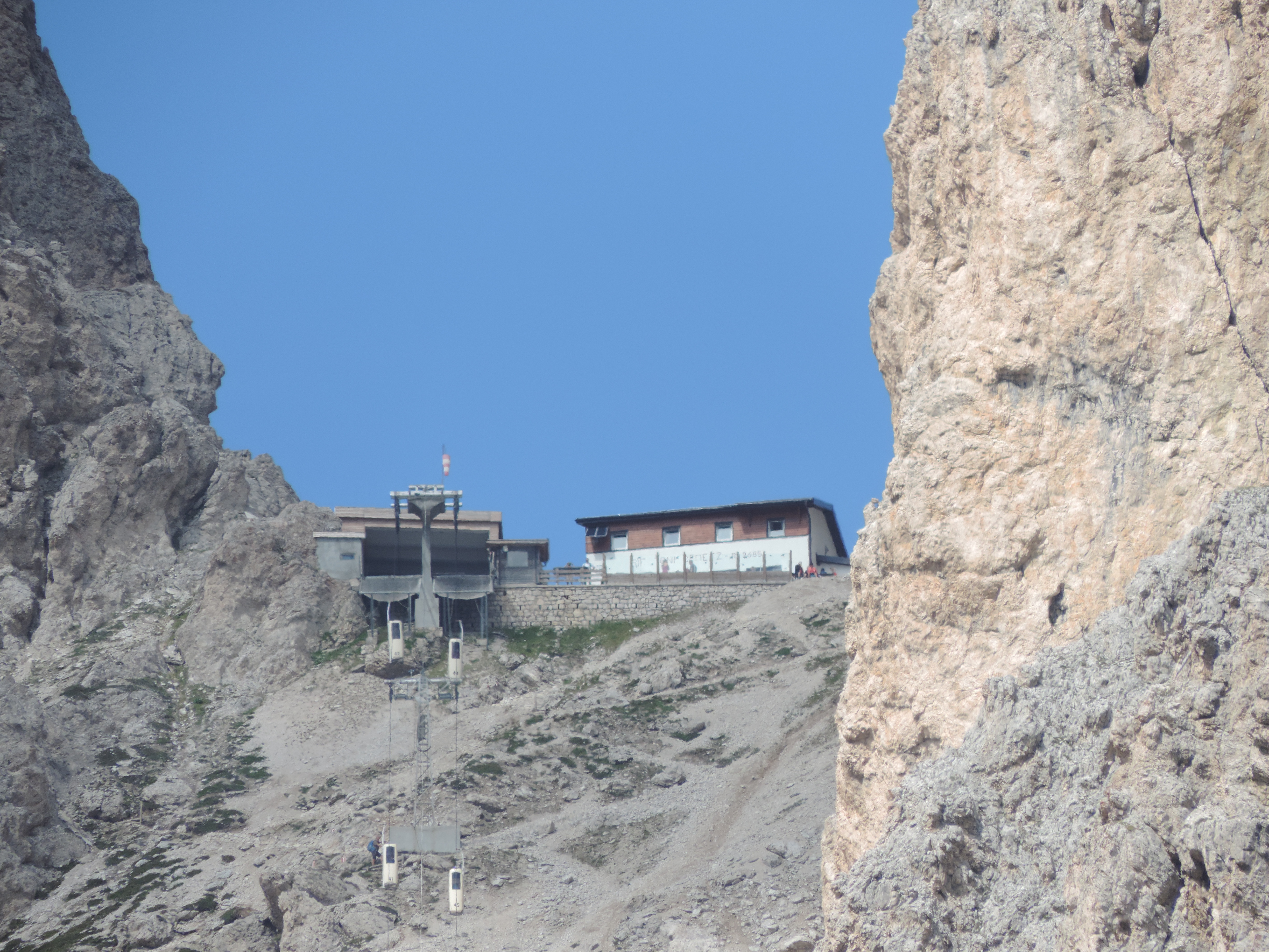 image: the demetz rifugio is at the top of the coffin lift