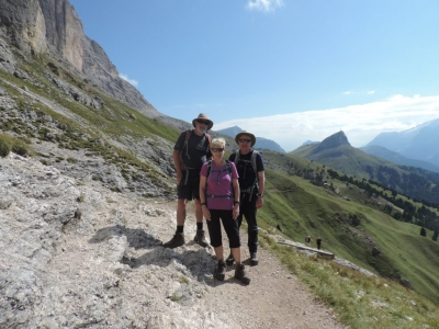 image: walking around sassolungo