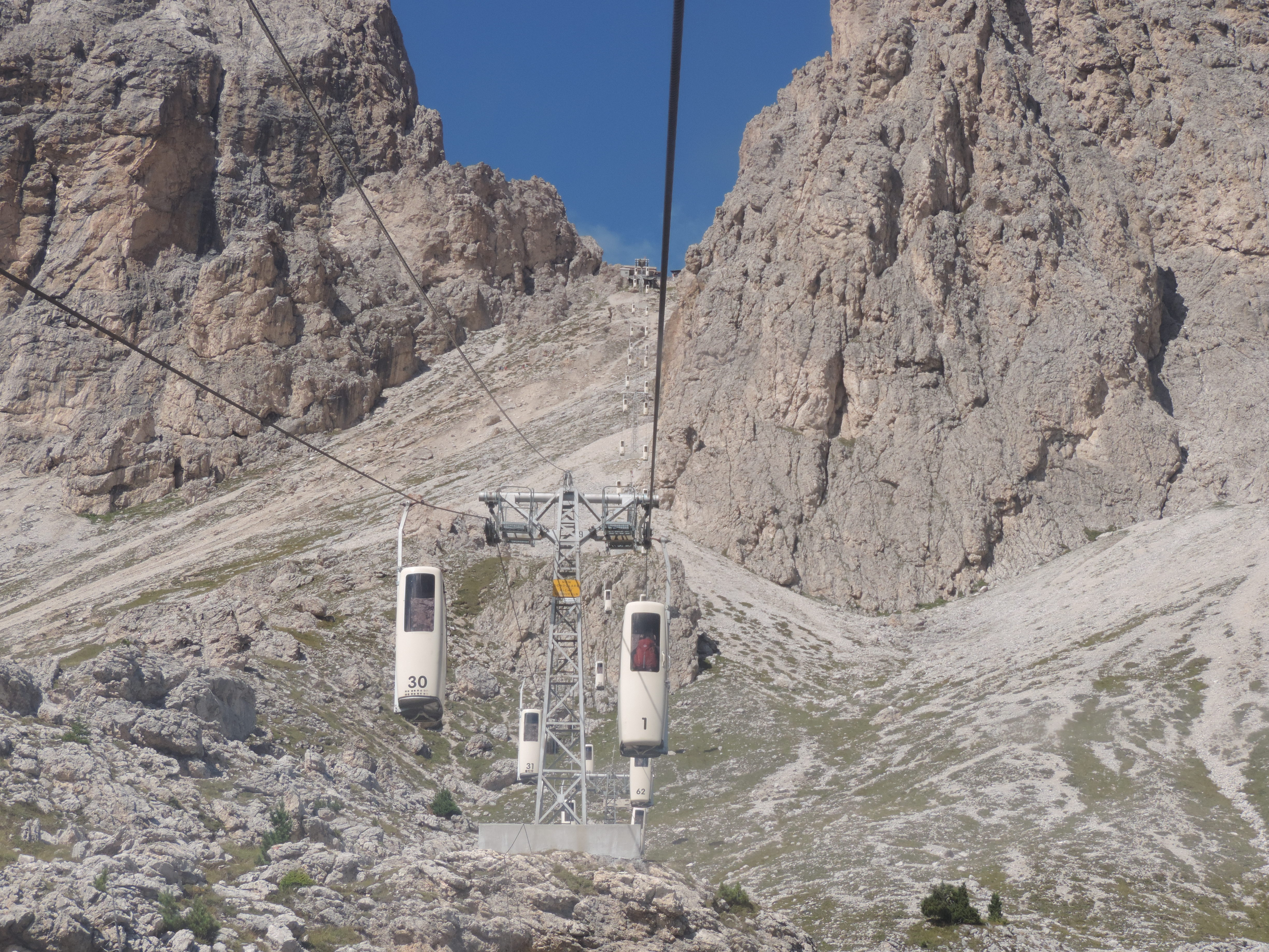 image: the coffin lifts taking you up to the toni demetz hut