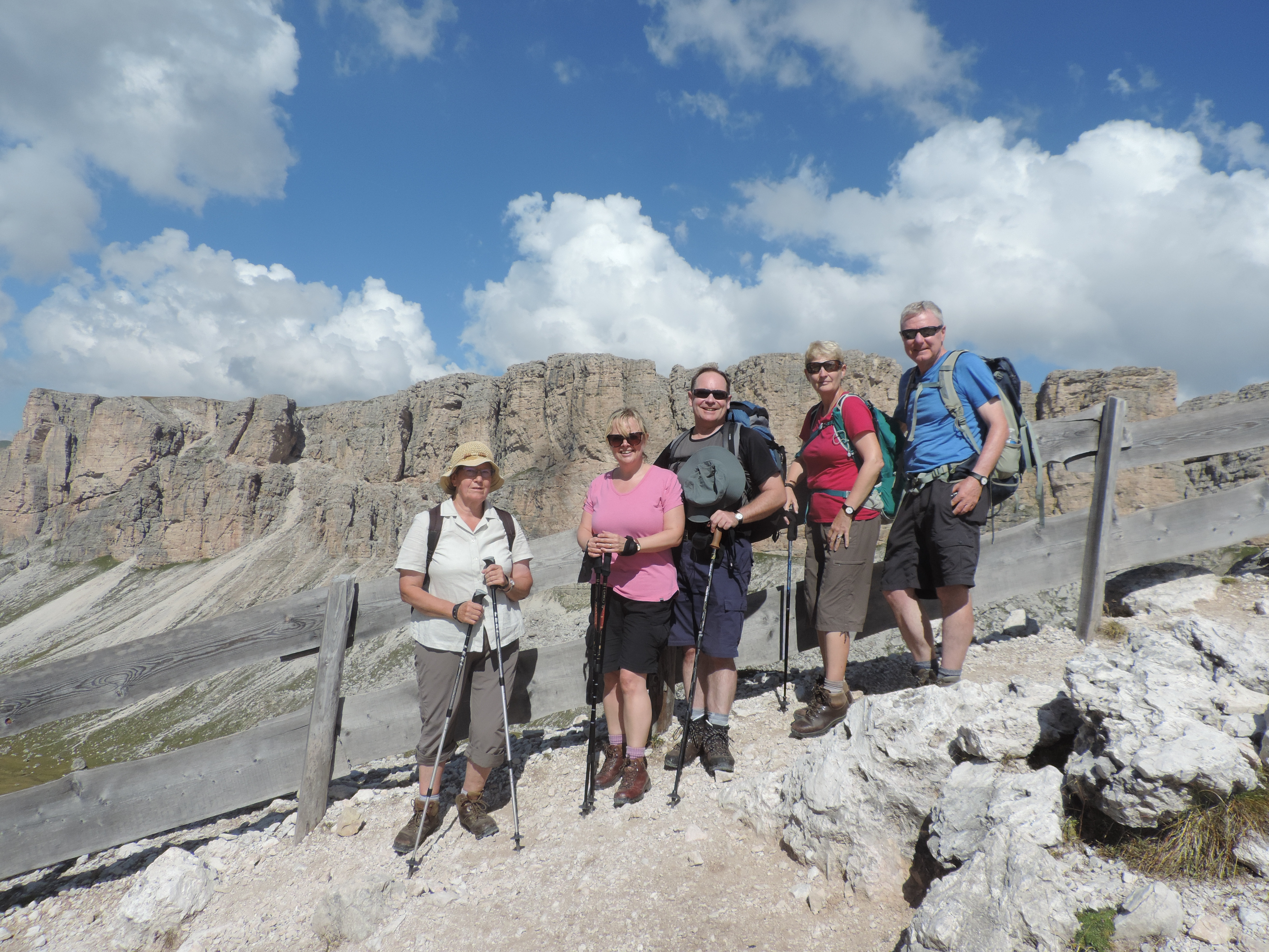 image: walking to puez hut from the gardena pass