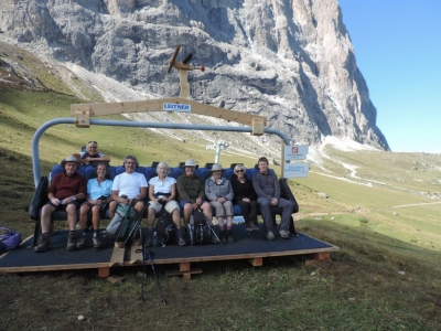 image: guests on a dolomites walking holiday