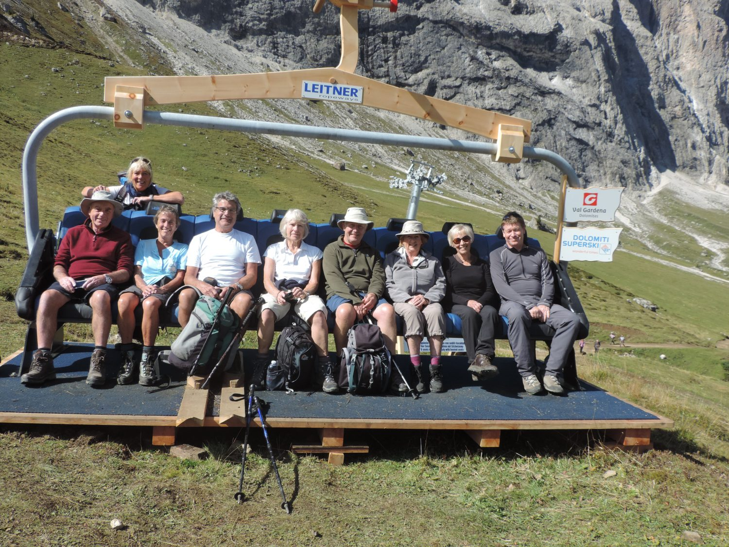 guests on a dolomites walking holiday
