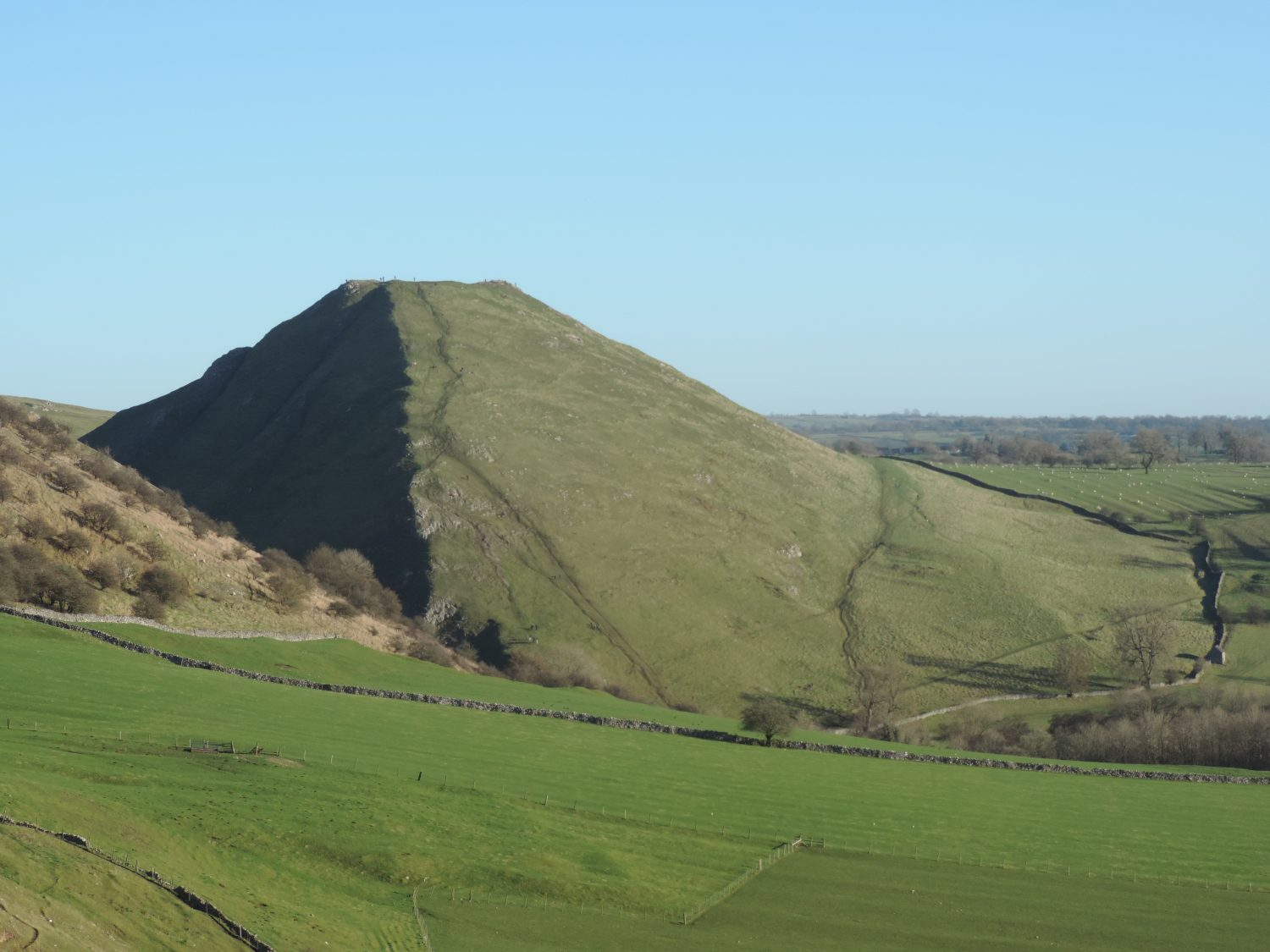 image: Thorpe Cloud seen from Bunster Hill
