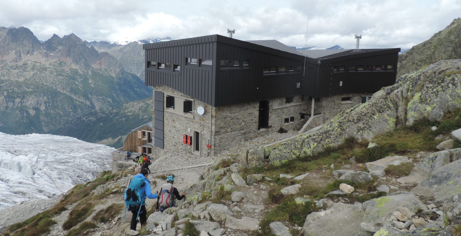 Albert Premier Refuge on a French Alps Hard Walking Week, close to the La Tour glacier