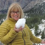 Paula on fun walks in the snow at Armentarola
