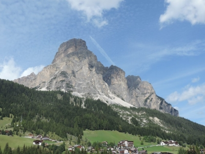 image: View from Corvara village