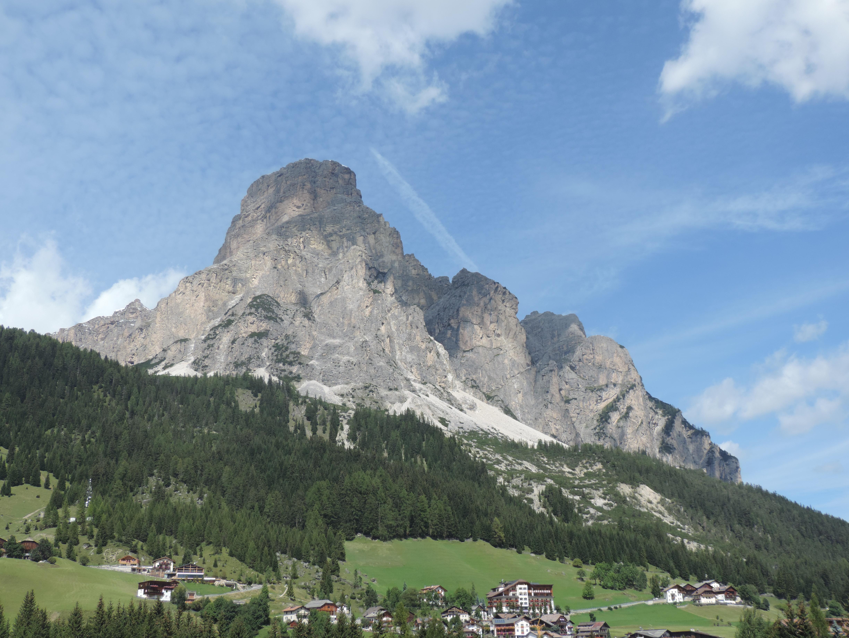 image: View from Corvara village
