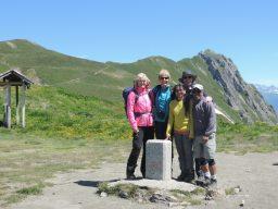 Summer in Chamonix on the Swiss border at the Col de Balme