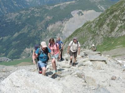 image: a steep climb to the Albert Premier glacier