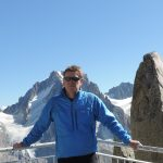 Mike on Grands Montets; keep warm in winter at home