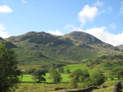 image: a lovely day in the Langdale Valley