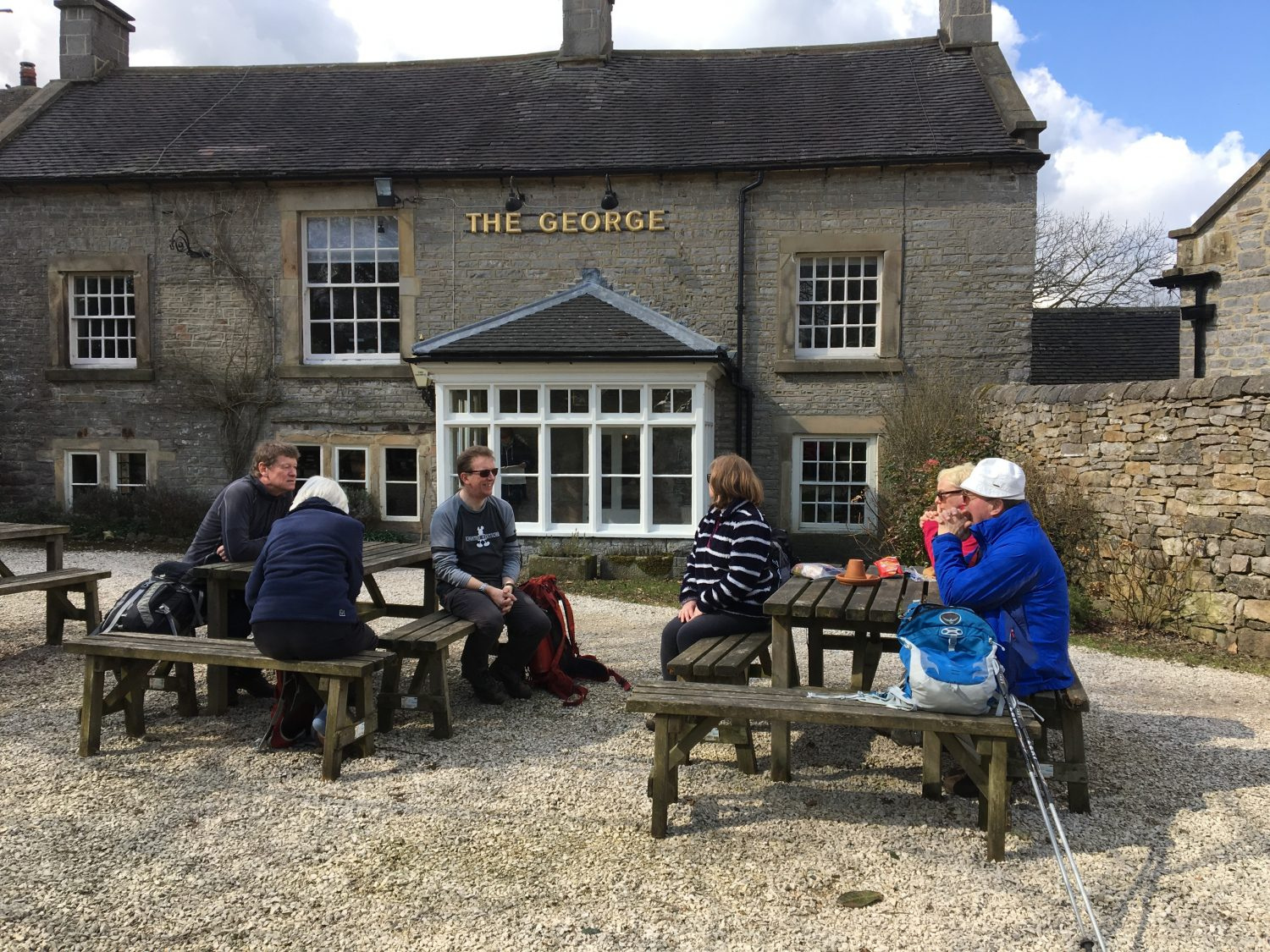Guests having a well earned rest in Alstonefield